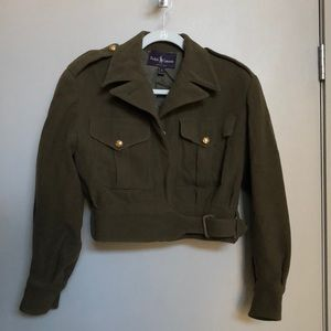 Ralph Lauren purple label cropped military jacket